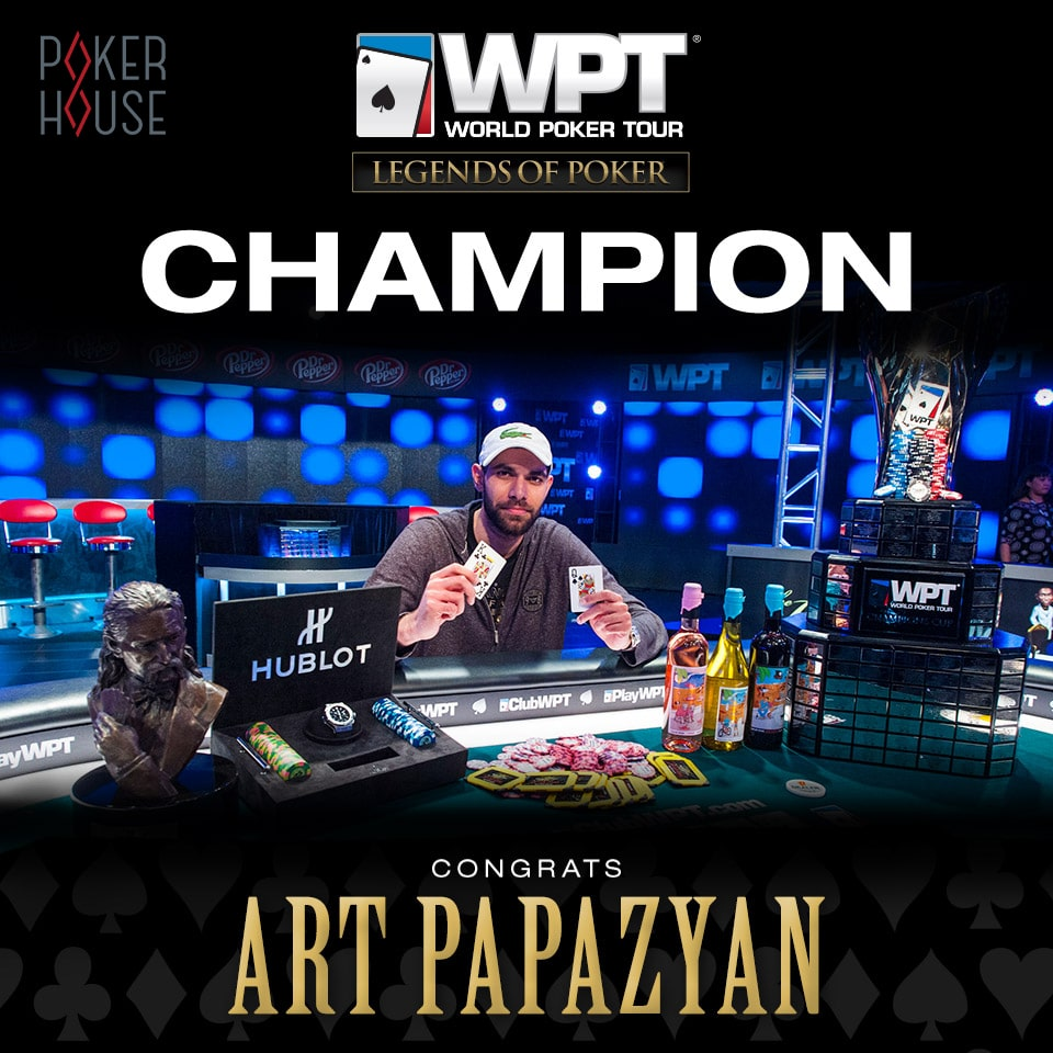 Артур Папазян чемпион WPT Legends of Poker